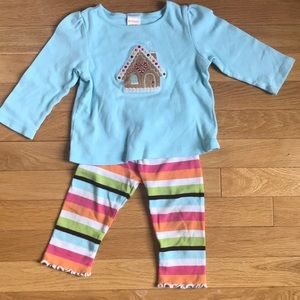 3/$25 Girls Gingerbread House outfit